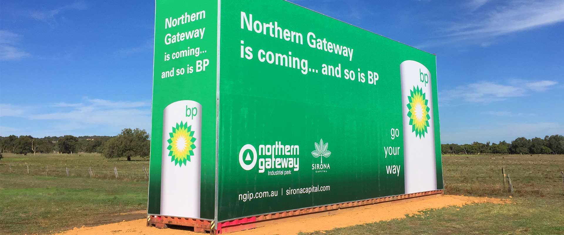 banner printing perth - Sea container sign for BP by Imagesource