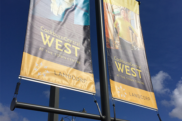 banner printing perth - Vinyl flags available from Imagesource