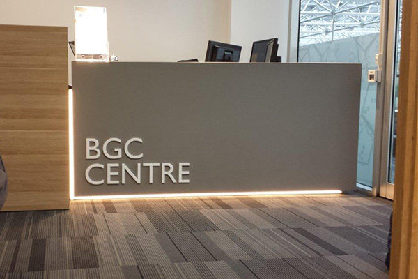 Digitally cut signage for BGC by Imagesource