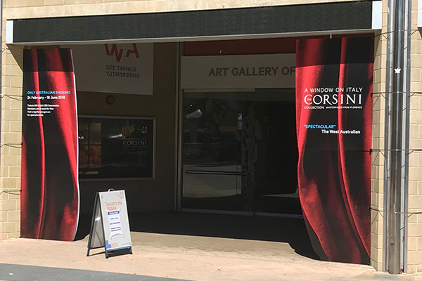 Art gallery WA signage by Imagesource