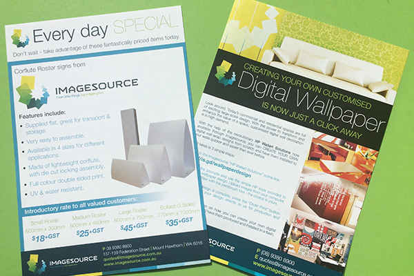 Brochure printing available from Imagesource