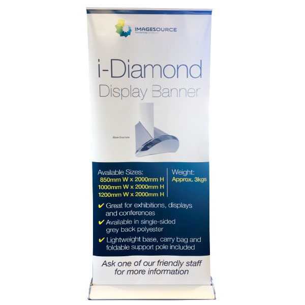 banner printing perth - iDiamond pull-up banner available from Imagesource