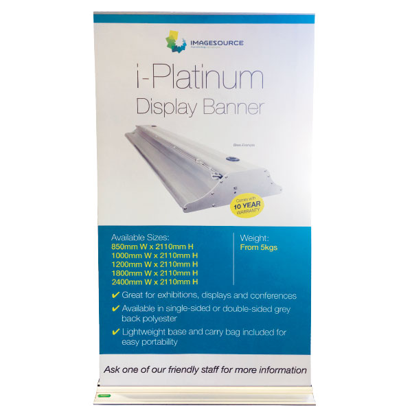 banner printing perth - iPlatinum pull-up banner available from Imagesource