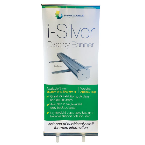 banner printing perth - iSilver pull-up banner available from Imagesource