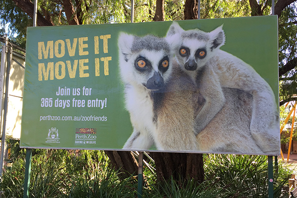 Vinyl banner for Perth Zoo by Imagesource