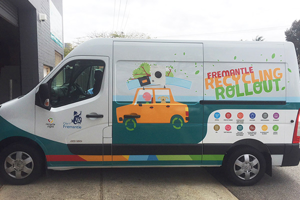 Vehicle graphic for City of Fremantle by Imagesource