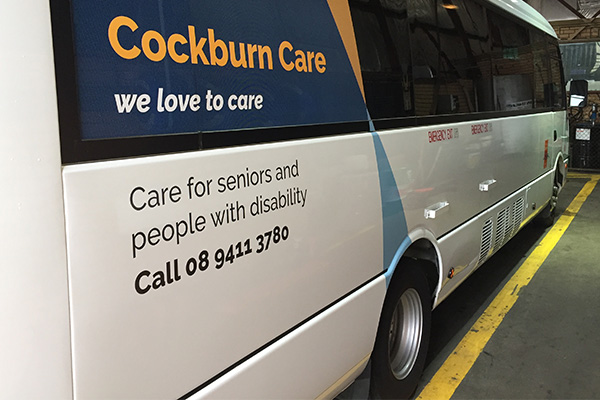 Vehicle graphics for Cockburn Care by Imagesource