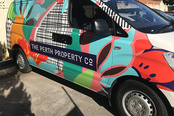 Full vinyl car wrap for The Perth Property Co by Imagesource