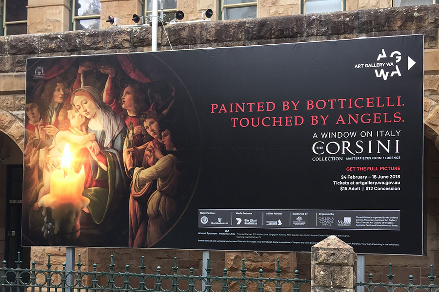 Billboard for the Art Gallery of WA done by Imagesource