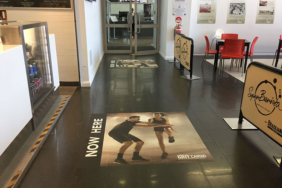 Print floor graphic by Imagesource.