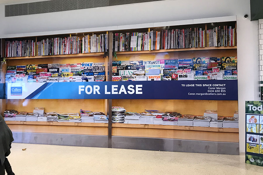 Large format signage - self-adhesive vinyl on ACM done by Imagesource