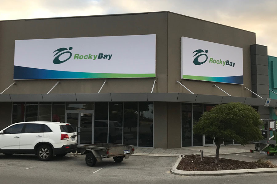 RockyBay fascia signage done by Imagesource