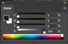 This is what black look like in CMYK sliders