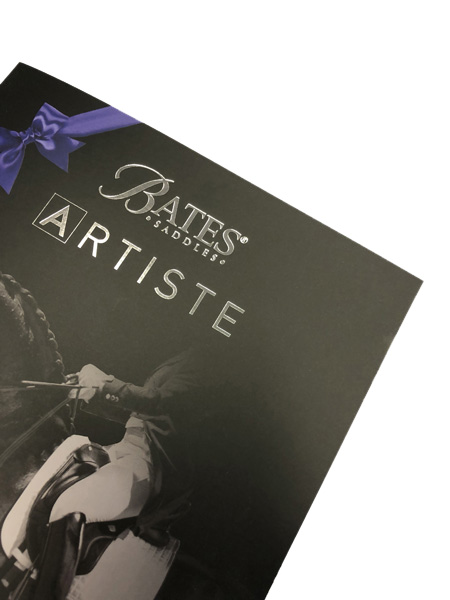 small format printing - Imagesource saddle stitch booklet with metal foil and velvet laminate effects
