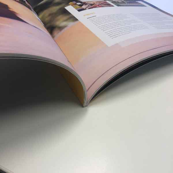 small format printing - An example of one of Imagesource's a printed perfect bound booklets