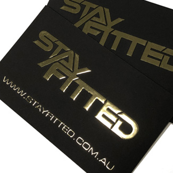 small format printing - Imagesource business cards - raised metal and velvet laminate effects