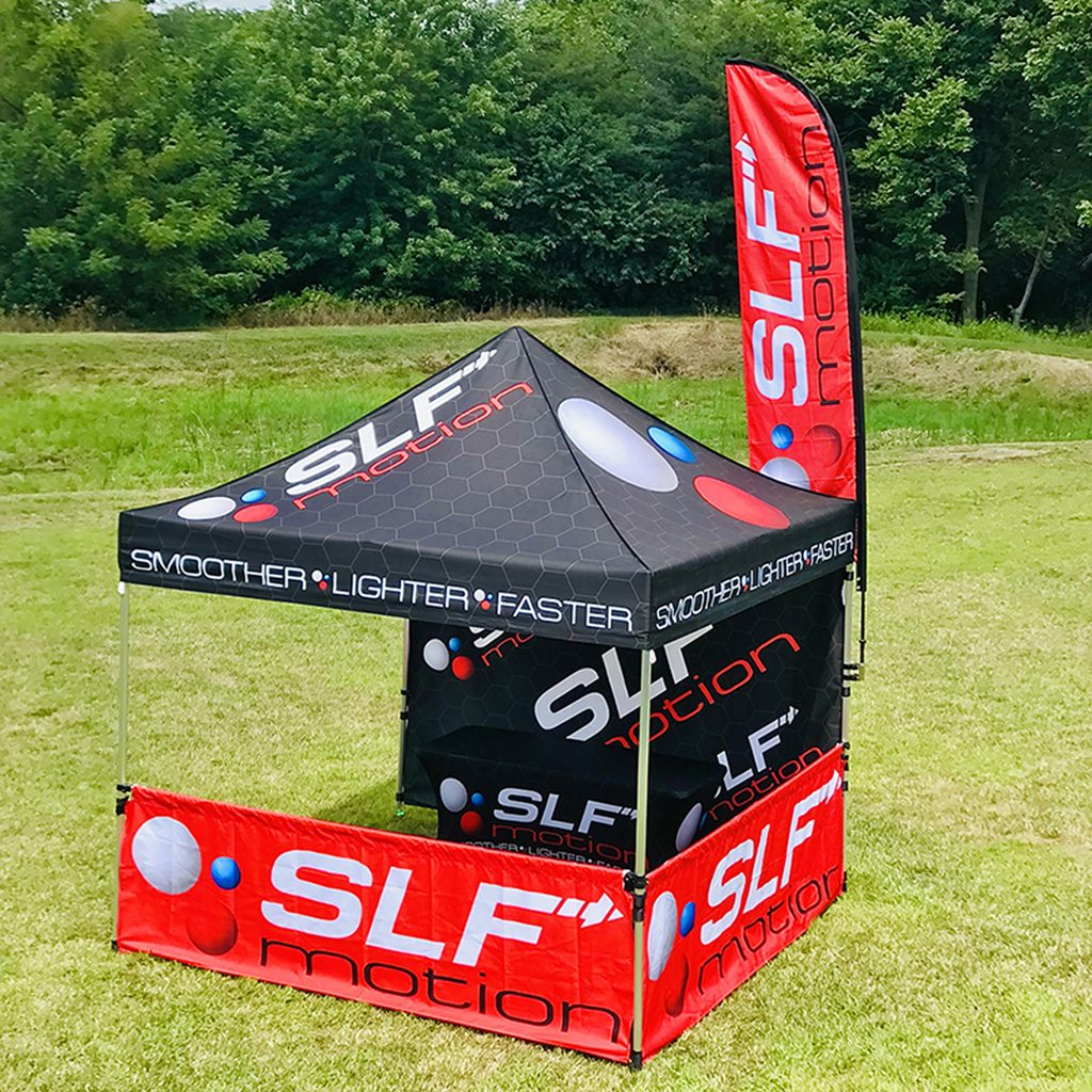 3 x 3M marquee with full back and half sides - great for sports events and festivals