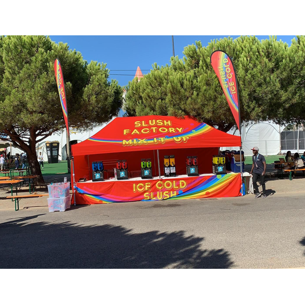 3 x 6M Marquee with full back and sides and half front - great for sports events and festivals