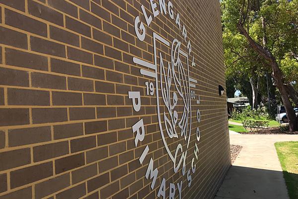 Metal signage digitally cut for Glengarry Primary School Duncraig