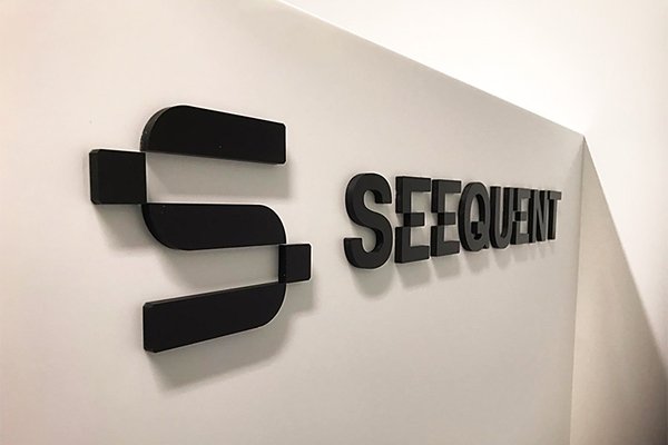 acrylic signage digitally cut for Seequent Perth