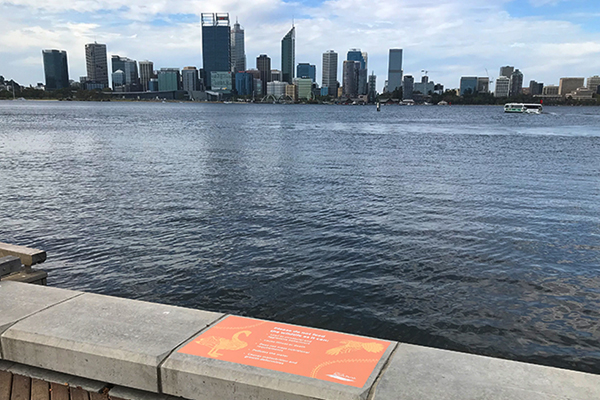 City of South Perth floor graphics around the foreshore using AliGraphic stock