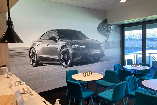 The AUDI room at Optus Stadium (home to West Coast Eagles and the Fremantle Dockers)for people to visit during the AFL / football season