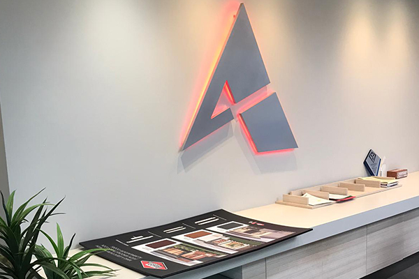 Digitally cut into metal and illuminated from the back sign for Adzoo Perth