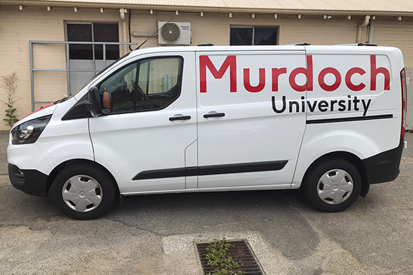 Murdoch University in Perth have their vehicle graphics printed and installed by Imagesource.